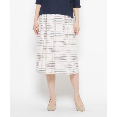 esche(エッシュ) コットンベースランダムボーダースカート