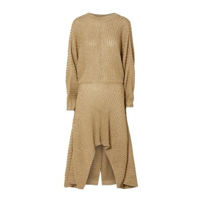 クロエ CHLOÉ 7分丈ワンピース・ドレス ゴールド L レーヨン 65% / 金属繊維 34% / ナイロン 1% 7分丈ワンピース・ドレス
