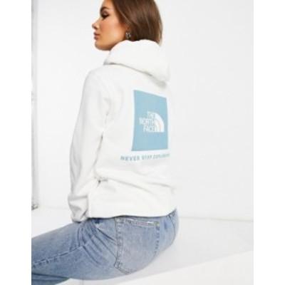 ノースフェイス レディース パーカー・スウェット アウター The North Face NSE Box hoodie in white Tnf white