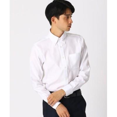 COMME CA ISM/コムサイズム 《イージーケア・抗菌防臭加工》 オックス ボタンダウンカラーシャツ ホワイト M