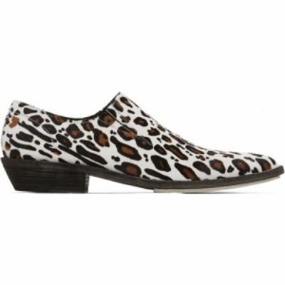 ハイダー アッカーマン Haider Ackermann メンズ ローファー ダービーシューズ シューズ・靴 white and brown leopard slip-on derby loa