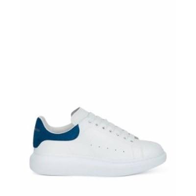 アレキサンダー・マックイーン メンズ スニーカー シューズ Men's Oversized Suede Heel Detail Sneakers Blue/White