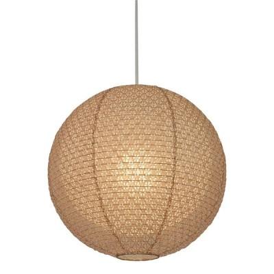 1灯 和紙 ペンダントライト bud 小梅茶in小梅白 電球付属なし シェードサイズ 幅350x奥行350x高さ320mm 彩光デザイン