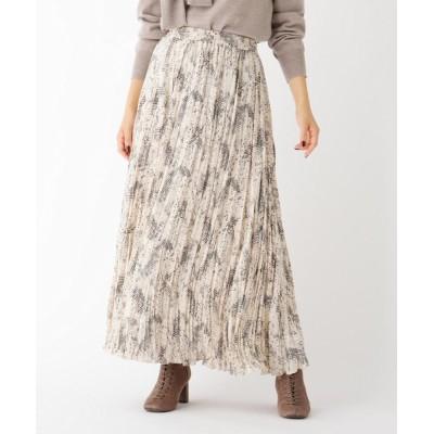 OPAQUE.CLIP / パイソンプリント プリーツフレアスカート【WEB限定サイズ】 WOMEN スカート > スカート