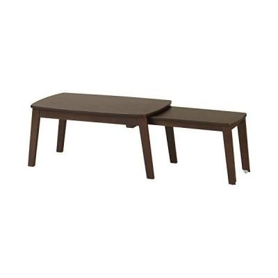 弘益 ローテーブル ダークブラウン 約78.51244536cm 伸縮 ローテーブル SLT-1200(DBR)