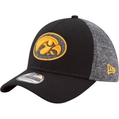 ニューエラ メンズ 帽子 アクセサリー New Era Men's Iowa Hawkeyes Grey Fierce Fill 39Thirty Stretch Fit Hat
