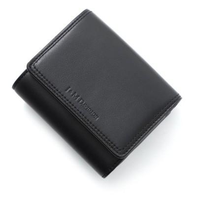 ジェイ&エム デヴィッドソン J&M DAVIDSON 3つ折り財布 小銭入れ付き ブラック レディース 10263n-7314-9990-black