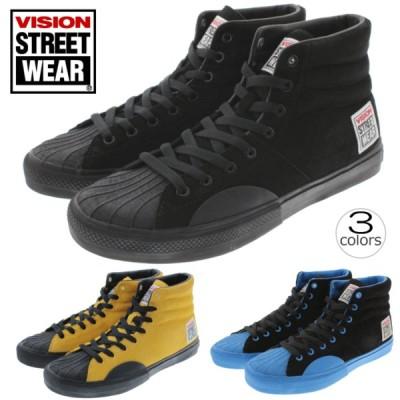 ヴィジョン ストリート ウェア VISION STREET WEAR スニーカー スエード ハイ SUEDE HI VSW-7351 ブラック(010) イエロー(070) ブラック/ブルー(530)