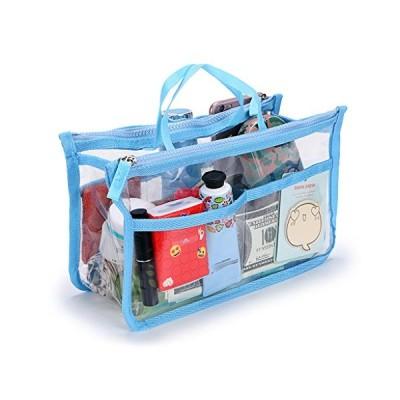 Sumnacon バッグインバッグ ビニールバッグ 透明 PVC インナーバッグ バッグイン トラベルポーチ 化粧ポーチ 大容量 収納バッグ 小物整理