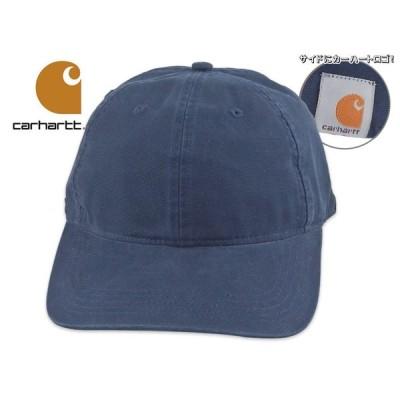 ☆CARHARTT【カーハート】COTTON CANVAS CAP STYLE #103938 NAVY コットンキャンバス キャップ ネイビー ウォッシュド生地 18820 18969