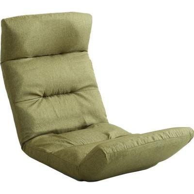 ホームテイストホームテイスト モルン 座椅子 14段階リクライニング 転倒防止機能付き アップスタイル 布張 グリーン SH-07-MOL-U 1脚(直送品)