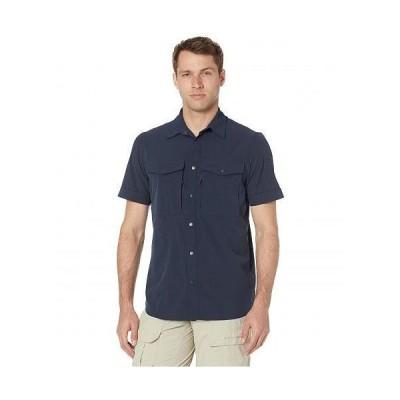 Fjallraven フェールラーベン メンズ 男性用 ファッション ボタンシャツ Abisko Trekking Short Sleeve Shirt - Dark Navy