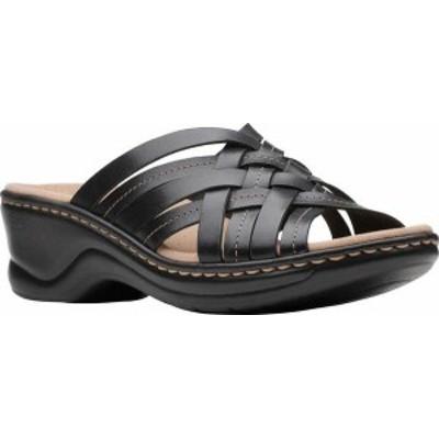 クラークス レディース サンダル シューズ Women's Clarks Lexi Selina Slide Black Full Grain Leather