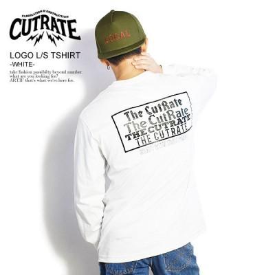 カットレイト Tシャツ CUTRATE  LOGO L/S TSHIRT -WHITE-