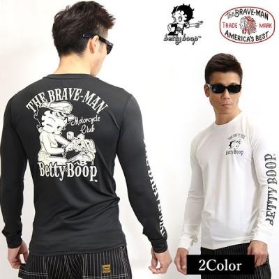 ドライロンTEE THE BRAVEMAN×BETTY BOOP ベティ・ブープ 長袖Tシャツ bbb-2107[21_ss]