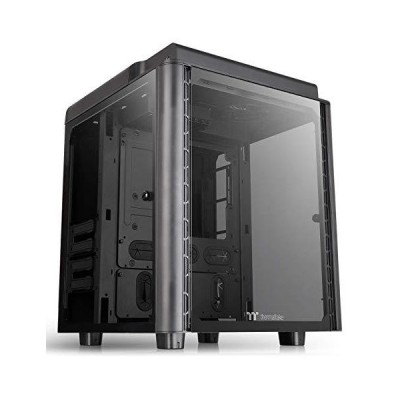 Thermaltake Level 20 HT Black Edition 4 Tempered Glass Type-C Fully Modular E-ATX Full Tower Computer Chassis with 2 140mm Top Fan Pre-Insta