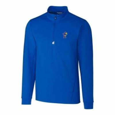 Cutter & Buck カッター アンド バック スポーツ用品  Cutter & Buck Kansas Jayhawks Blue Traverse Vault Logo 1/2-Zip Pullover Jacke