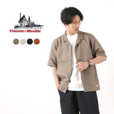 VINCENT ET MIREILLE(ヴァンソン エ ミレイユ) オープンカラーシャツ / メンズ / 半袖 / 無地