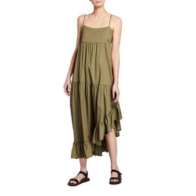 フレーム レディース ワンピース トップス Gemma Tiered Asymmetric Ruffle Dress