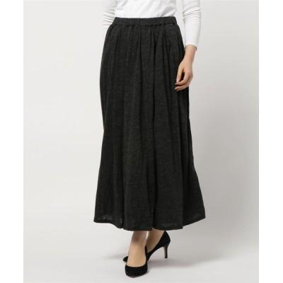 スカート ロングギャザースカート