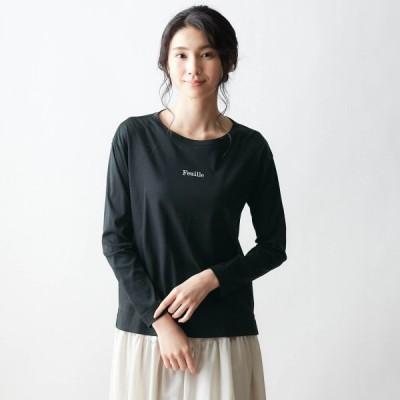 ピマコットンロゴTシャツ ブラック S M L LL