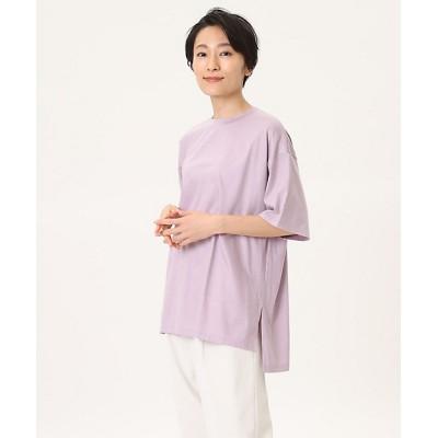 <I.T.'S. INTERNATIONAL(Women)/イッツインターナショナル> クルーネックオーバーサイズTシャツ ラベンダー【三越伊勢丹/公式】