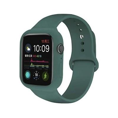 Panda Baby Apple Watchシリコーンケース 一体型 Series 6/5/4/SE (ミッドナイトグリーン 40mm)