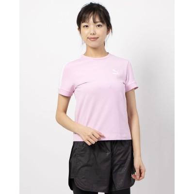 プーマ PUMA CLASSICS タイト SS Tシャツ (PALE PINK)