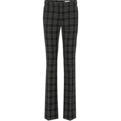 アレキサンダー マックイーン Alexander McQueen レディース ボトムス・パンツ High-Rise Checked Wool Pants Black/Ivory
