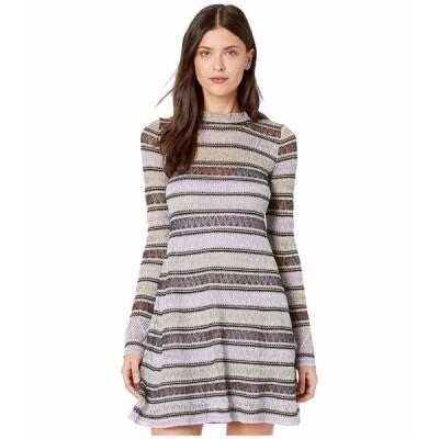 エム ミッソーニ ワンピース トップス レディース Lace Lurex Long Sleeve Dress Lavender