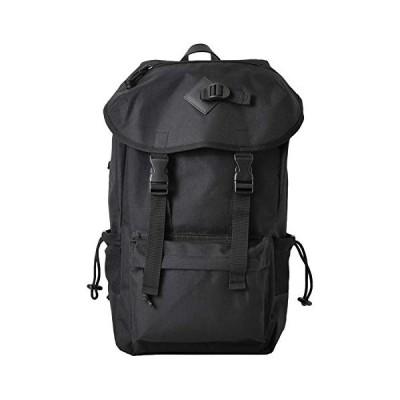 ヴンダーバッグ WUNDERBAG ナイロン フラップ バックパック リュック ディパック カバン メンズ レディース ブラック bag-0