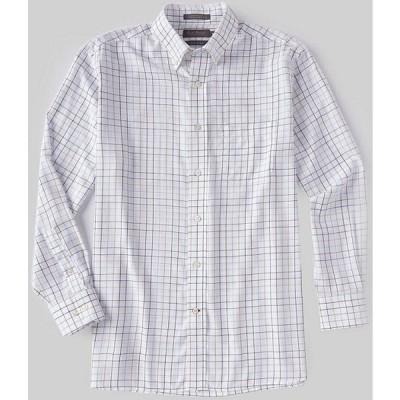 ダニエル クレミュ メンズ シャツ トップス Daniel Cremieux Signature Non-Iron Medium Plaid Long-Sleeve Woven Shirt