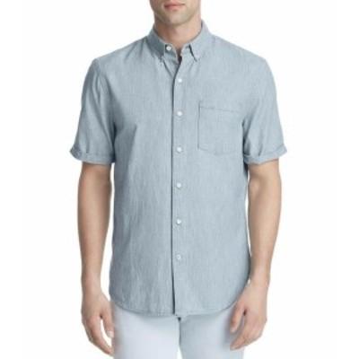 Joes ジョーズ ファッション アウター Joes Mens Shirt Blue Size XL Stripe Front Print Pocket Button Down
