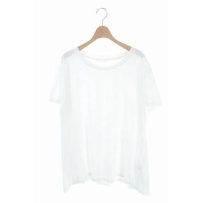 【中古】ドゥーズィエムクラス DEUXIEME CLASSE 20SS Loose Tシャツ プルオーバー 半袖 白 /KN ■OS レディース 【ベクトル 古着】