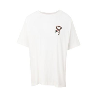 エッセンシャル・アントワープ ESSENTIEL ANTWERP T シャツ ホワイト 1 コットン 100% / ガラス T シャツ