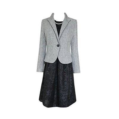 (アンジェリカ)Angelica N50387 B グレー 9号 3点セット ウィングカラー ジャケット スーツ お宮参り 母 スーツ お宮?