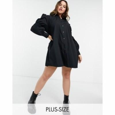 ローラ メイ Lola May Curve レディース ワンピース シャツワンピース ワンピース・ドレス Shirt Dress In Black ブラック