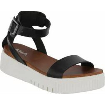 Mia レディースサンダル Mia Lunna Athletic Sandal Black Vegan Leather