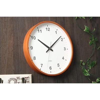 KATOMOKU plywood wall clock ライトブラウン スイープ(連続秒針) km-36L φ304mm
