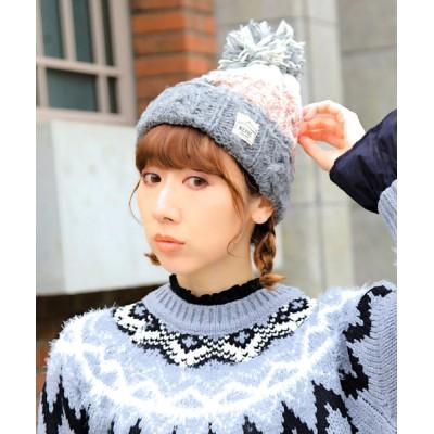 14+(ICHIYON PLUS) / ネパール2トーンニット帽 WOMEN 帽子 > ニットキャップ/ビーニー