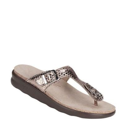 エスエーエス レディース サンダル シューズ Sanibel Dot Print Metallic Leather Thong Sandals ORO