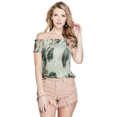 tシャツ Tシャツ OFF-SHOLDER DARCEE SMOCKED TOP