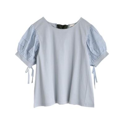 tシャツ Tシャツ バックデザインパフ袖PO
