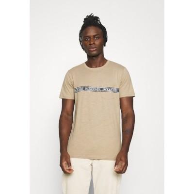 ジャック アンド ジョーンズ Tシャツ メンズ トップス JORNERA TEE CREW NECK - Print T-shirt - chinchilla