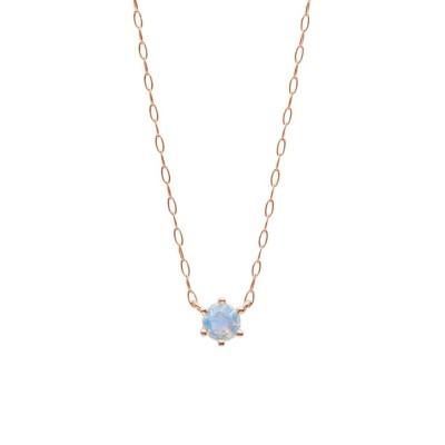 ネックレス 【ESTELLE/エステール】【WEB限定】6月誕生石 K18 ピンクゴールド ブルームーンストーン ネックレス