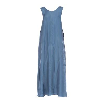 ブルネロ クチネリ BRUNELLO CUCINELLI ロングワンピース&ドレス ブルーグレー M シルク 100% ロングワンピース&ドレス