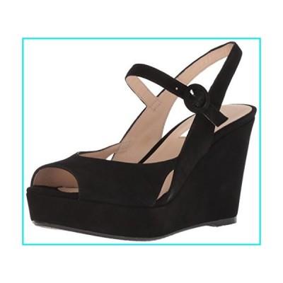 L.K. Bennett Women's Raisa Wedge Sandal, Black, SHO 40 M EU (10 US)【並行輸入品】