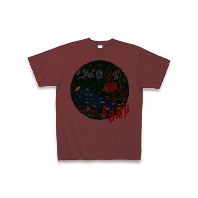 CAMP(赤文字) Tシャツ(バーガンディ)