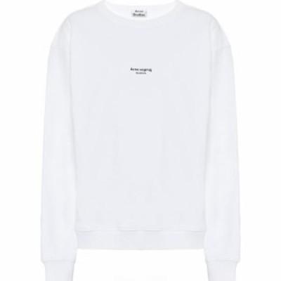アクネ ストゥディオズ Acne Studios レディース スウェット・トレーナー トップス Logo cotton sweatshirt Optic White