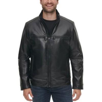 カルバンクライン メンズ ジャケット&ブルゾン アウター Men's Faux Leather Jacket Black